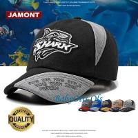 Jamont Kids Shark Bite Topi Baseball Anak Hat Casual Sport Casual