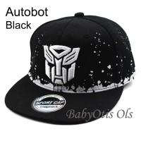 Black And White Snapback Superhero Kids Baseball Hat Topi Anak Casual