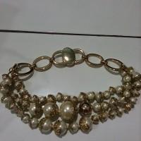 *Preloved* Kalung Pesta Dior Mutiara Triple Tribal Pearl