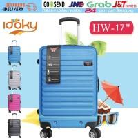 Idoky 17 Inch Koper Anti Air dengan Kunci Kombinasi Luggage Suitcase - Biru