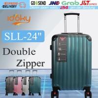 Idoky SLL 24 Inch Koper Anti Air dengan Kunci Kombinasi Double Zipper - Hijau