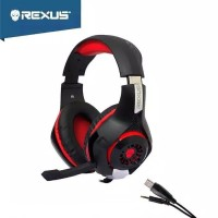 Rexus Headset Gaming Vonix F55 New Model With Mic LED