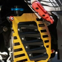 '' Cover Radiator Nmax Scarlet CNC Cover Radiator Aerox Scarlet CNC ''