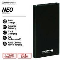 Delcell NEO Powerbank 10000mAh Real Capacity Polymer Battre - Silver -