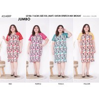 Dress Pesta Jumbo Batik Katun Bigsize Kombinasi Brokat Mewah vol55