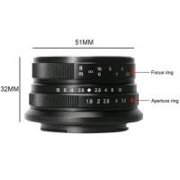 Lensa wide 7artisans 25mm f1.8 for fujifilm X -7artisan fuji