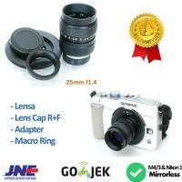 Lensa 25mm F1.4 - Lensa Manual Uniq U Mirrorless Sony, Fuji X,