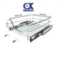Rak Panci Piring Mangkok Tarik Ok 007 C For Kitchen Set Cabinet 45 Cm