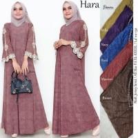 Baju Terusan Wanita Muslim Longdress Hara Maxy Denora