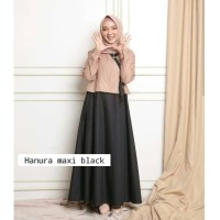 Baju gamis syari/ Hanura Maxi / Gamis Remaja / Dress Muslim Modern