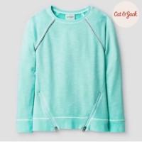 Sweater jacket anak cat & jack original hijau tosca BC