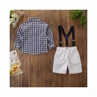 Suspender Kemeja dengan Set untuk Anak Celana Pendek Laki-Laki dan Uku