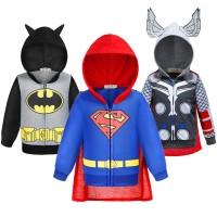 Superman Batman Boys Jacket Gaya Tipis The Avengers Captain America