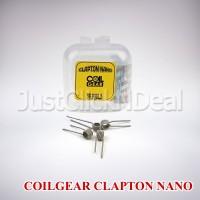 Coil Gear Clapton Nano Ni80 26 AWG & 38 AWG Prebuilt Authentic