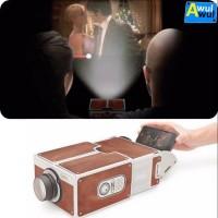 Smartphone Projector 2.0 Cardboard Cinema In A Box   Bioskop Portable