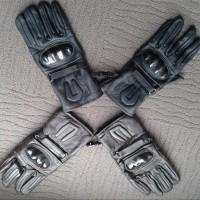 sarung tangan biker panjang kulit