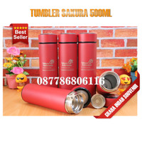 Tumbler Sakura Custom Laser 1 Sisi Promosi Murah | Tumbler Stainless