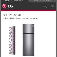 KULKAS LG GN-B215SQMT SMART INVERTER MULTI AIR FLOW TWIST ICE 2 PINTU