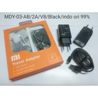 Charger Xiaomi 2A MDY-03-AB colokan Indo Micro USB Original Cina Hitam