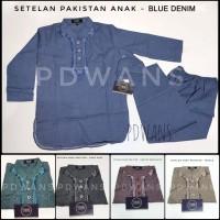 Setelan Koko Pakistan Anak Warna Motif New Denim Series by PDWANS