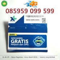 Kartu Perdana Nomor Cantik XL 4G LTE 085959 099 599