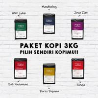 WORCAS Paket Kopi Arabica Nusantara 3 Kg - Kopi Single Origin