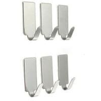 Gantungan Serba Guna Adhesive 12 PCS - Silver