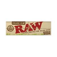 Rolling paper raw organic single wide