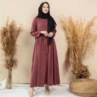 Sofwa dress maroon by EMA Daily