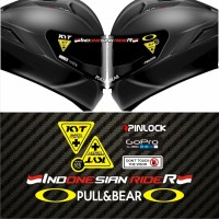 Value Set Paket Stiker Helm KYT Indonesian Rider
