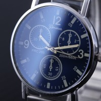Jam Tangan GENEVA STAINLESS STEEL/3 TITIK - New Watch Analog Stainless