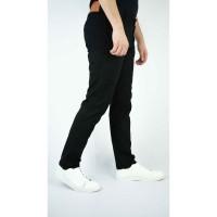 Houseofcuff Celana Chino Panjang Pria Slim fit Stretch Jeans Hitam - Hitam, 28