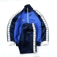 satu set jaket dan celana training fila