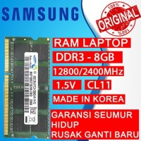 RAM LAPTOP SAMSUNG DDR3 8GB 12800/1600MHz ORIGINAL RAM SODIMM 1.5v 8GB