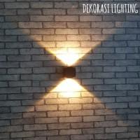 H230 2L LAMPU DINDING TAMAN LED 2X2W WATERPROOF OUTDOOR WALL LAMP