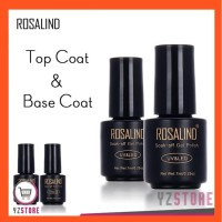 Top Coat dan Base Coat Rosalind Kutek UV LED Nail Gel Polish YZ52