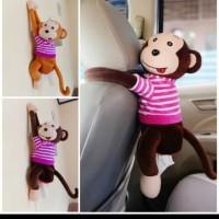 Tempat Kotak Tisu Mobil/Boneka monyet gantung/Sarung Tissue monyet
