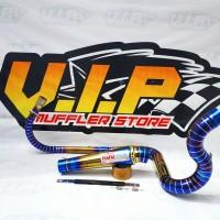 Knalpot KOU Blue TwoTone Kidal Cobra HONDA CBR 150R FACELIFT