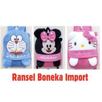 Tas BONEKA Ransel Anak Karakter Hello Kitty Doraemon Minnie Mouse