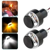 Lampu DRL SEN Jalu Handle Sein Motor LED Stang Motor Waterproof 2 Pcs