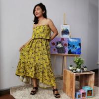 New Product Maxi Dress Kemben Rumbai oleh oleh bali