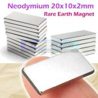 Strong Magnet Neodymium 20x10x2mm Balok Persegi Petak 20x10x2 mm Kotak