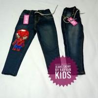 celana jeans superhero nyala 2 anak laki- laki