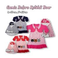 Gamis Anak Bayi Perempuan Dress Bolero Cute Animal Bear set Hijab
