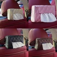 Car Tissue Box Holder Sun Visor Organizer Leather / Tempat Gantungan