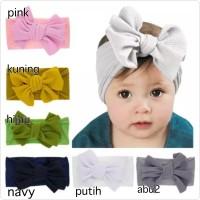bandana pita besar untuk bayi anak perempuan bahan halus headband band