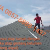 renovasi atap rumah dengan atap genteng aspal
