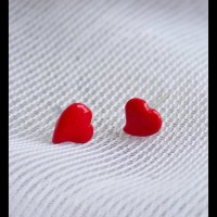 ANTING TUSUK ANAK HANDMADE CLAY KOREA IMPORT KAWAII LOVE MERAH KODE
