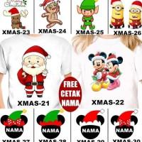 Hot Promo Kaos / Baju Natal Couple Christmas Anak Banyak Motif (Free