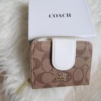 Dompet Kartu Lipat Wanita Coach Women Woman Monogram Card Wallet